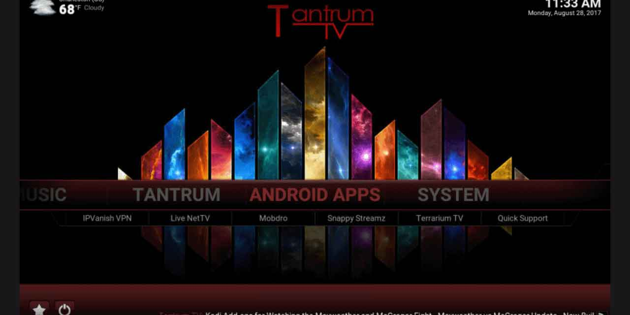 Tantrum TV Kodi 마법사