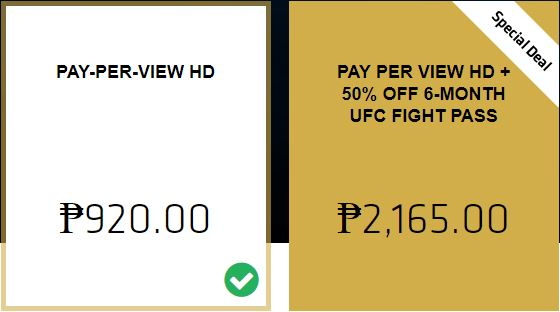 ufc 226 pay per view Filipīnu cena