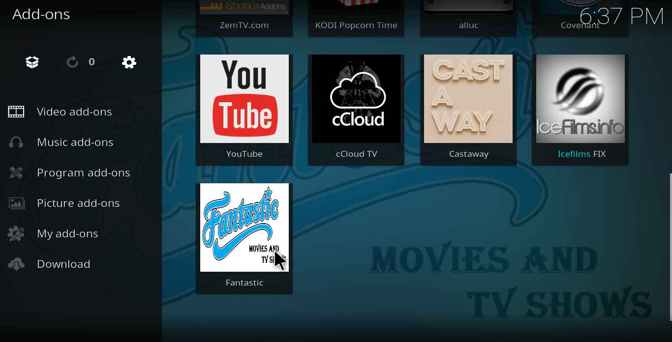 fantastische kodi-add-on download