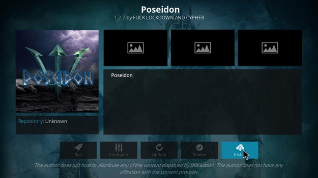 Poseidon video pelikula addon