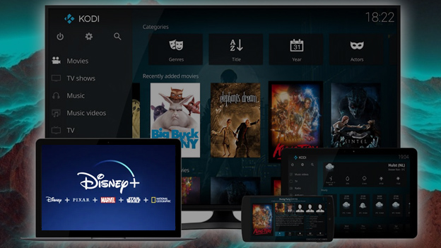 Disney + -on-Kodi